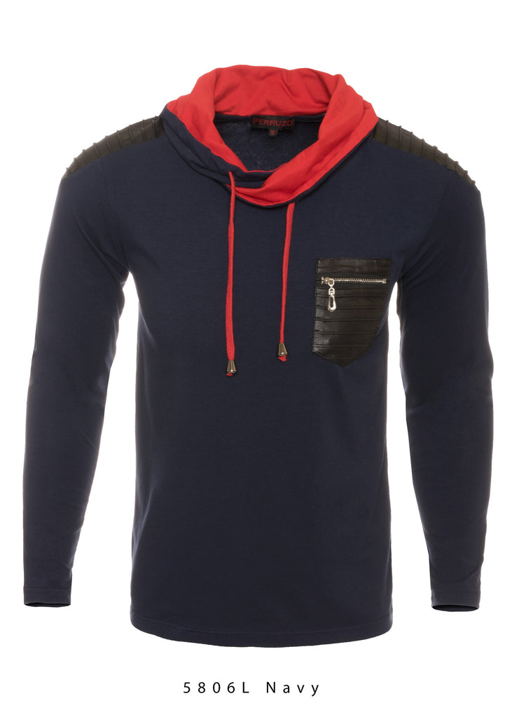 Navy Long Sleeve Sports Top (5806L)