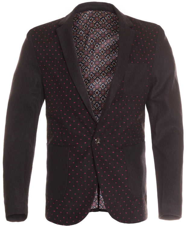 Black Single Button Blazer (6611)
