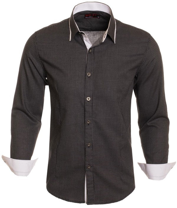 MR21-Black Long Sleeve Shirt (4820L)