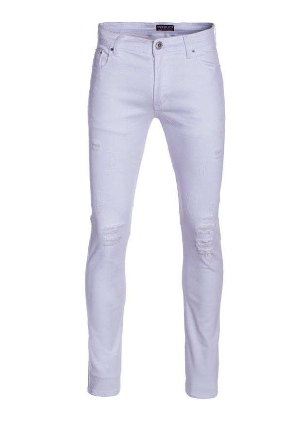 White Skinny Cotton Jeans (710)