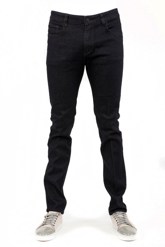 Denim Black Skinny-Stretch Jean (714)