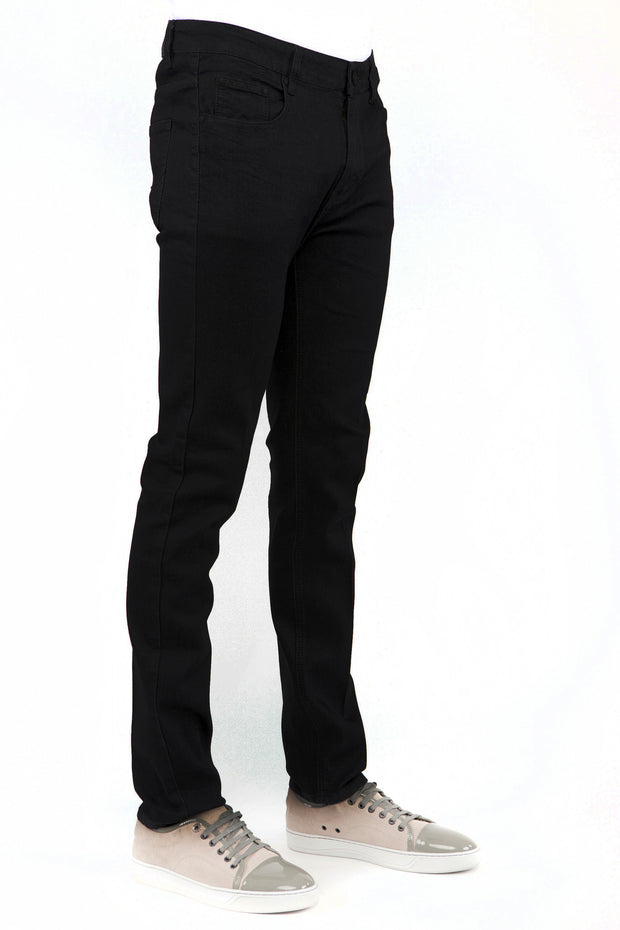 Men's Jet Black Skinny-Stretch Jean