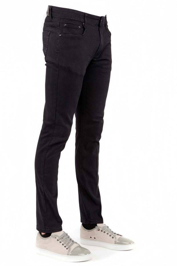 Men's Black Skinny-Stretch Jean