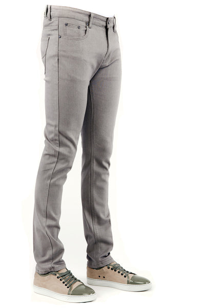 Men's Denim Light Grey Skinny-Stretch Jean