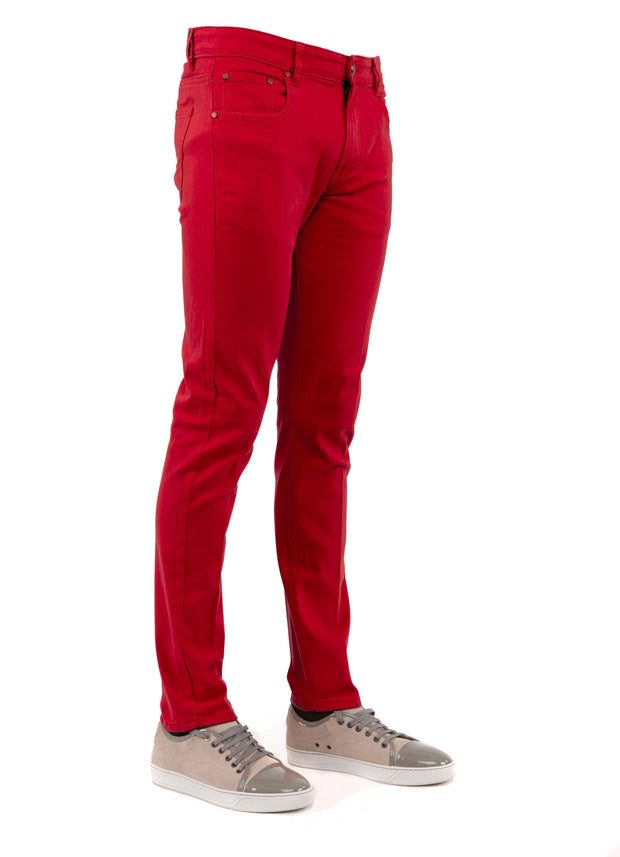 Men's Red Skinny-Stretch Jean