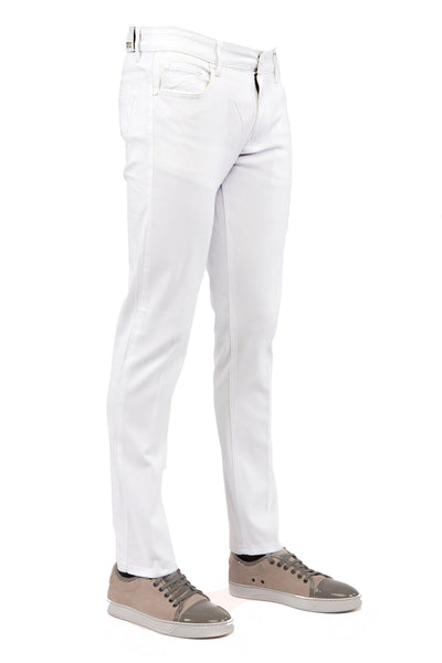 Men's White Skinny-Stretch Jean
