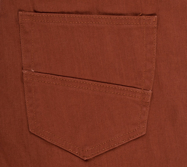 Brick Striated Skinny-Stretch Cotton Pants (717)