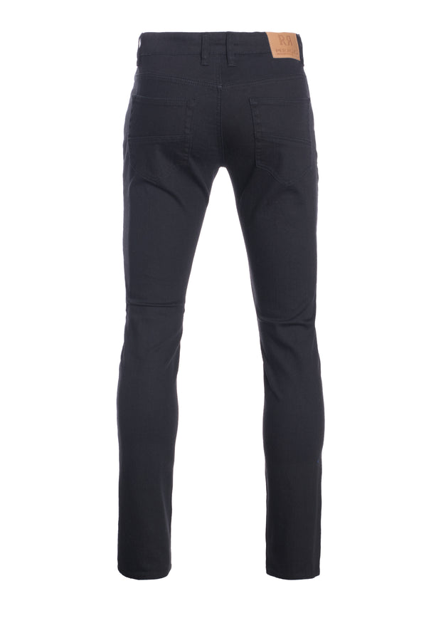 Black Striated Skinny-Stretch Cotton Pants (717)