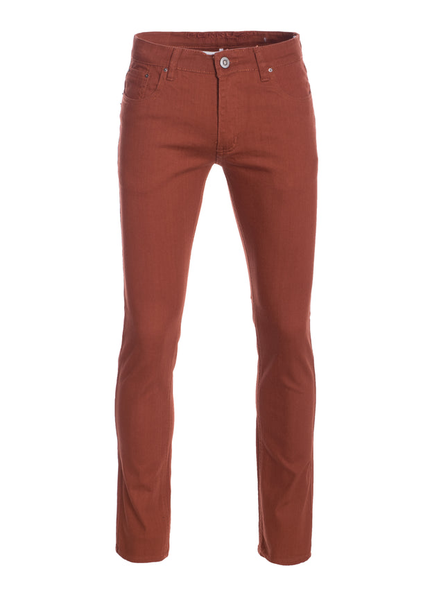 Men's Brick Striated Skinny-Stretch Cotton Pants