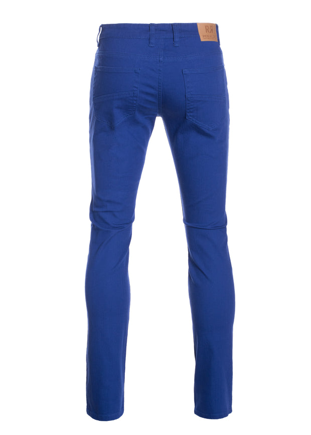 Royal Striated Skinny-Stretch Pants (717)