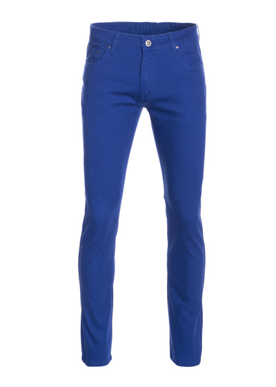 Men's Royal Striated Skinny-Stretch Cotton Pants
