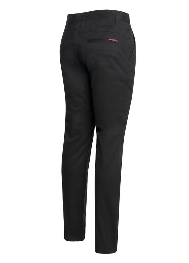 Black Cotton-Stretch Chino (724)