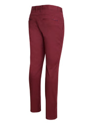 Burgundy Cotton-Stretch Chino (724)