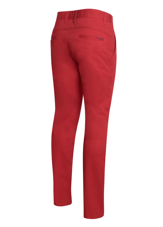 Burnt Red Cotton-Stretch Chino (724)