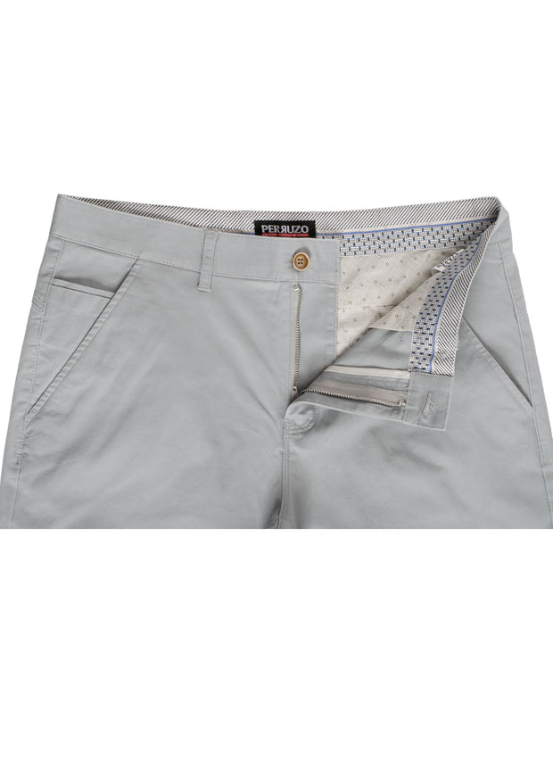 Grey Cotton-Stretch Chino (724)