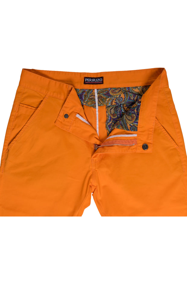 Orange Cotton-Stretch Chino (724)