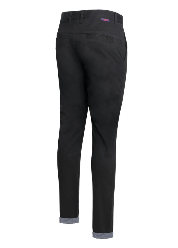 Black Cotton-Stretch Chino (725)