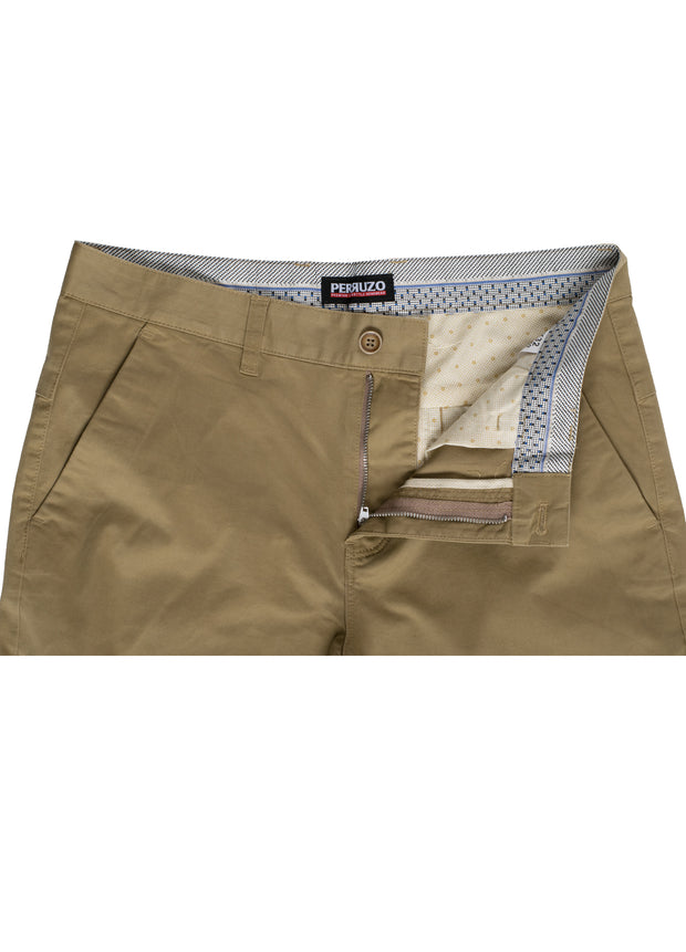Cappucino Cotton-Stretch Chino (725)