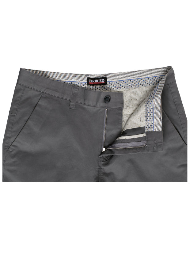 Charcoal Cotton-Stretch Chino (725)