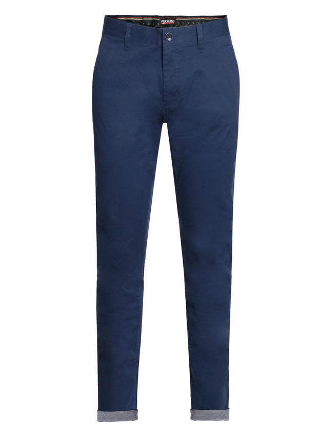 Navy Cotton-Stretch Chino (725)