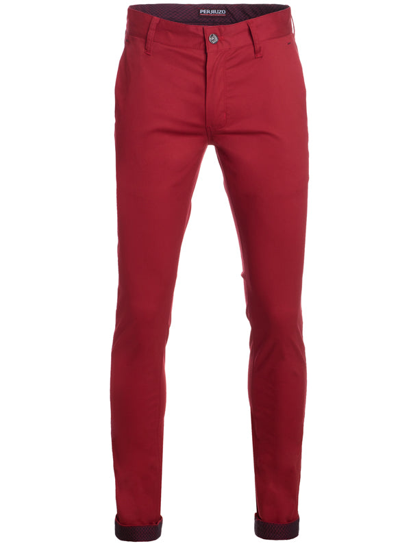 Red Cotton-Stretch Chino (725)