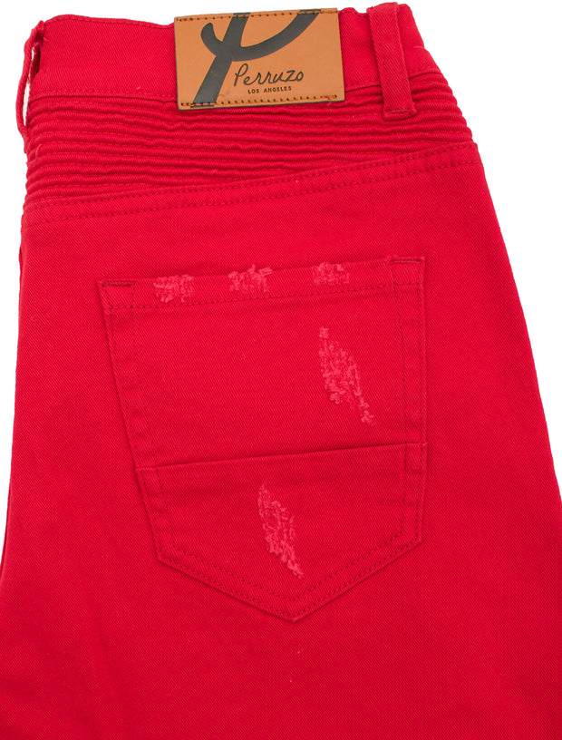 Red Moto Jeans (7550)