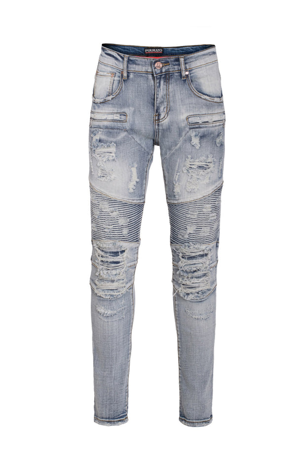 Men's Moto Trash Jeans