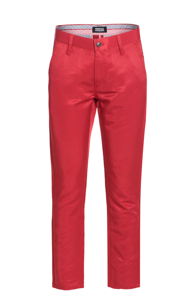 Men's Red Premium Pants