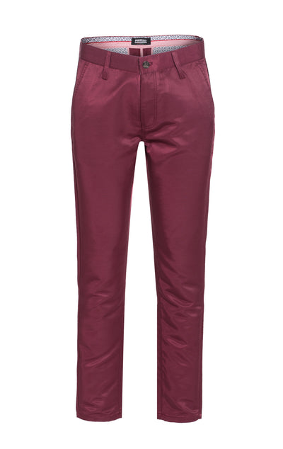 Men's Burgundy Premium Pants