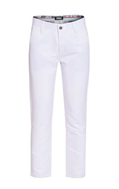 Men's White Premium Pants