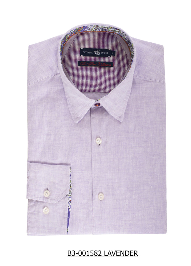 S-31 Stone Rose Light Purple Long Sleeve Shirt