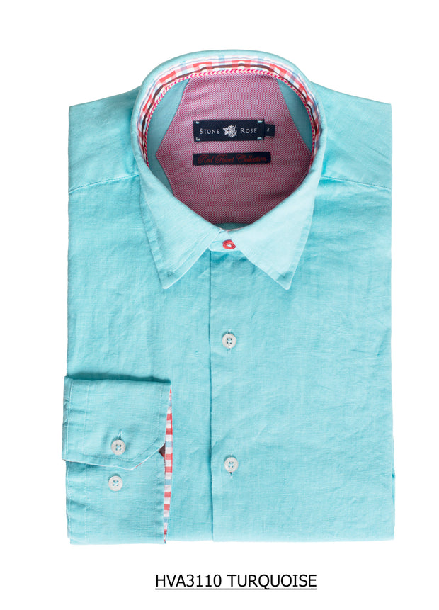 S-33 Stone Rose Turquoise Long Sleeve Shirt