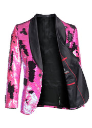 Fuchsia/Black Sequin Blazer (1778)