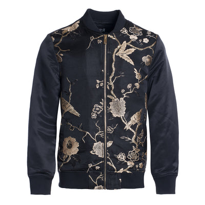 Black/Gold Bomber Jacket (1781)