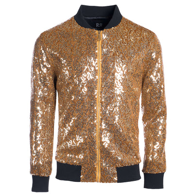 Men's Gold Bomber Jacket
