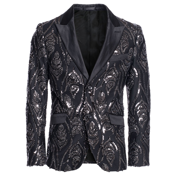 Black/Silver Sequin Blazer (1787)
