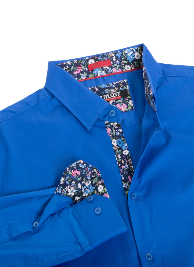 Royal Solid Cotton-Stretch L/S Shirt (4030)