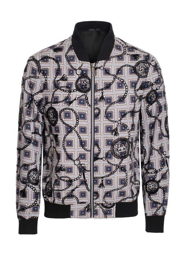 S-66 Multi color Bomber Jacket with Barroco Design