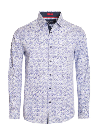 S-69 white and Blue Long Sleeve Shirt
