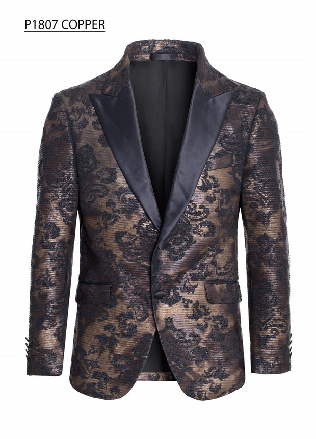 Brown/Black Pattern Design Blazer- S2
