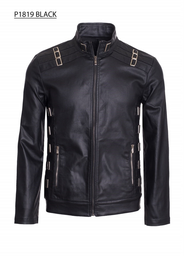 Men's Moto Faux leather Jacket