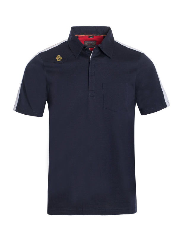 S94 Navy and White Polo Shirt