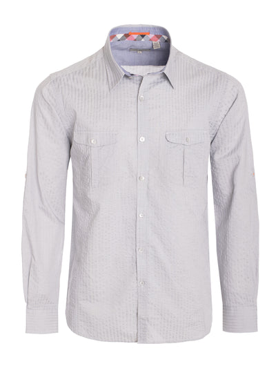 Men's Ted Baker Grey Long Sleeve Shirt