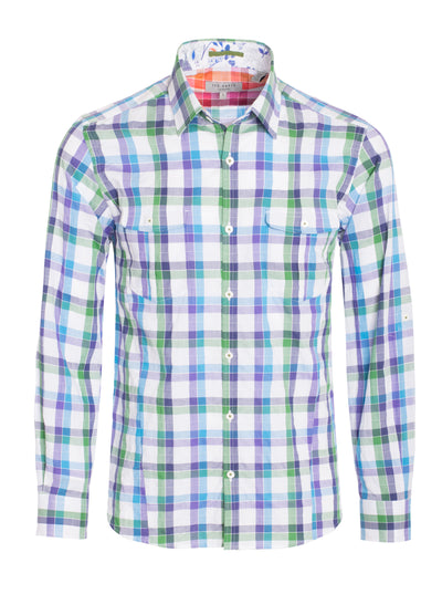 S-36 Ted Baker Multi Color Long Sleeve Shirt