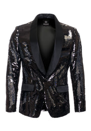 Black/Silver Sequin Blazer (1778)