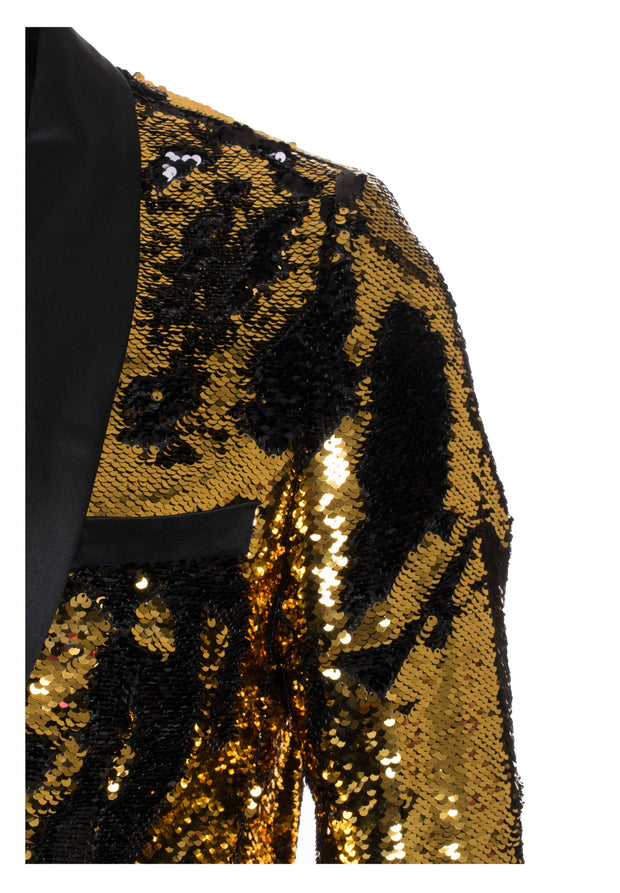 Gold/Black Sequin Blazer (1778)