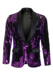 Purple/Black Sequin Blazer (1778)