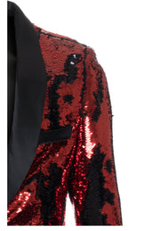 Red/Black Sequin Blazer (1778)
