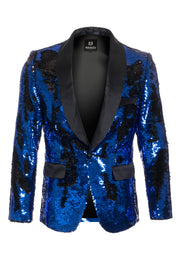 Men's Royal/Black Sequin Blazer