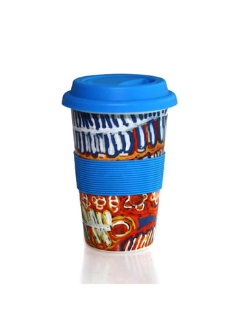 Better World Arts Eco Travel Mug - Murdie Nampijinpa Morris